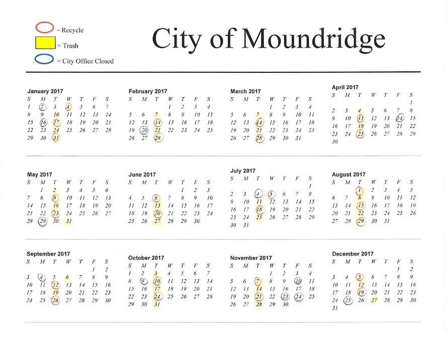 2017 Moundridge Calendar