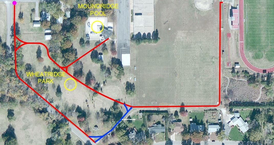 Proposed WR Park path