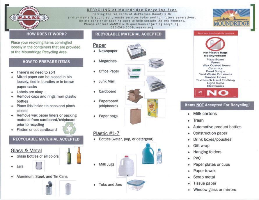Recycling Informational Flyer